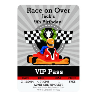 GO KART Birthday invitation! Card