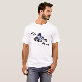 Go Kart Go Vroom Men's White Tee