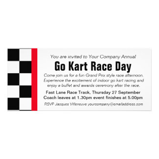 Go kart race day corporate group event invitation