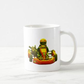 Go Kart Racer in Yellow Basic White Mug
