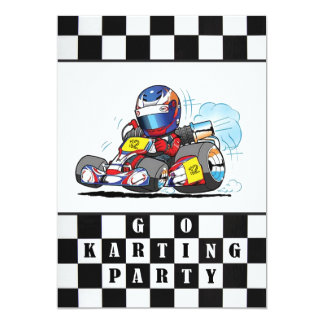 Go Karting Party Invitations