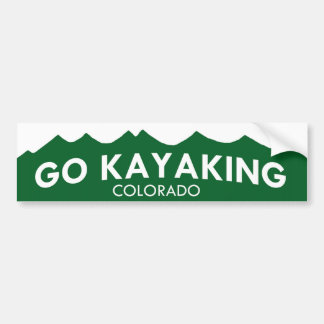 Go Kayaking Colorado Bumper Sticker