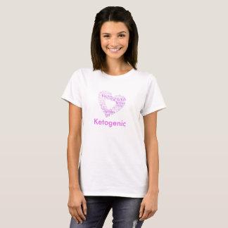 Go Keto Pink heart shaped word cloud design. T-Shirt