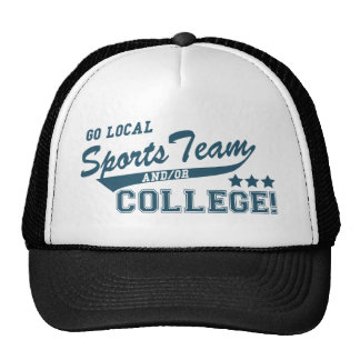 Go Local Sports Team and or College Cap