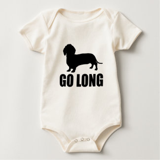 Go Long Dacshund Baby Bodysuit