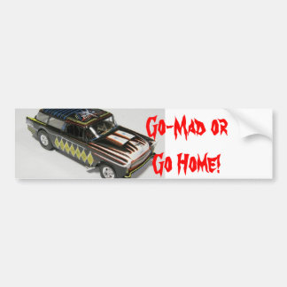 Go-Mad Bumper Sticker