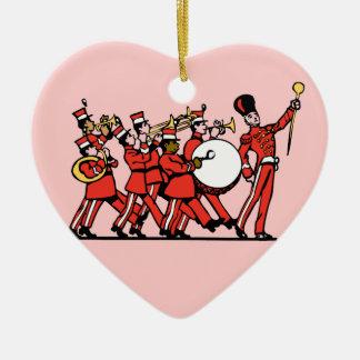 go marchin ceramic ornament