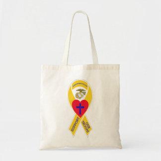 Go Marines! Warriors Hearts tote Canvas Bags