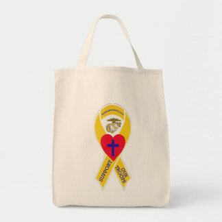 Go Marines! Warriors Hearts tote Grocery Tote Bag