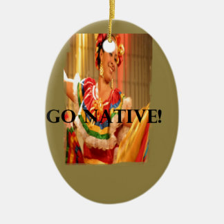 Go Native!.png Ceramic Oval Decoration
