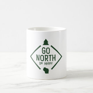 Go North Be Happy - Wisconsin mug Green