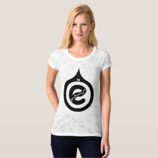 Go North Canvas Fitted Burnout T-Shirt