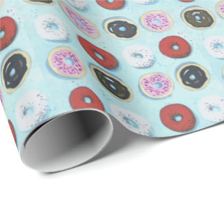 Go nuts for Doughnuts Wrapping Paper