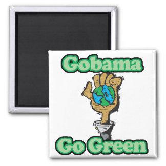 Go Obama Go Green Magnet