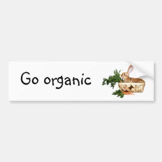 Go organic bumper sticker