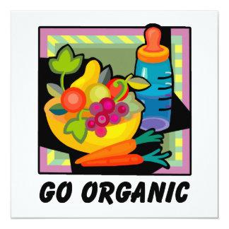 """Go Organic 5.25"""" Square Invitation Card"""