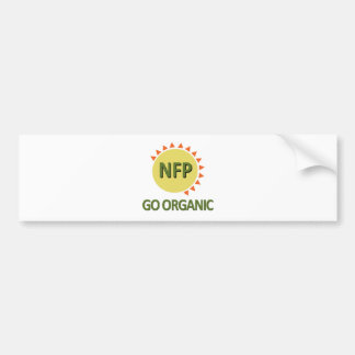 Go Organic, Practice NFP Bumper Sticker