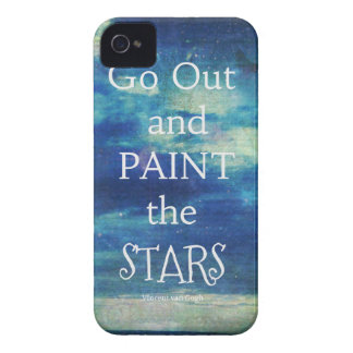 Go Out and paint the Stars Vincent van Gogh quote iPhone 4 Cover