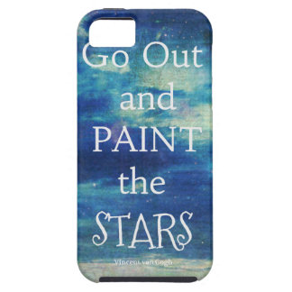 Go Out and paint the Stars Vincent van Gogh quote iPhone 5 Case
