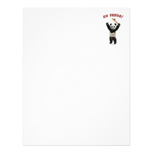 Go Panda Bear Cricket Full Color Flyer