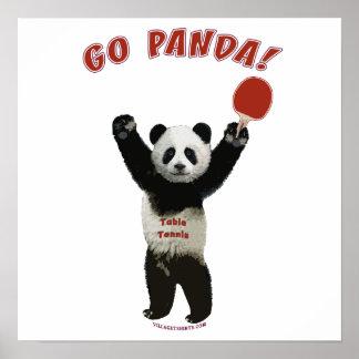 Go Panda Ping Pong Posters