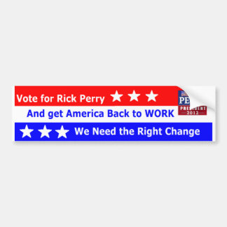 Go Perry Bumper Sticker
