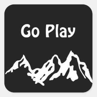 Go Play Square Sticker