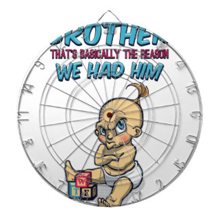 Go Play With Your Brother - Perfect Parenting Dartboard