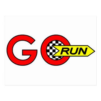Go Run Postcard