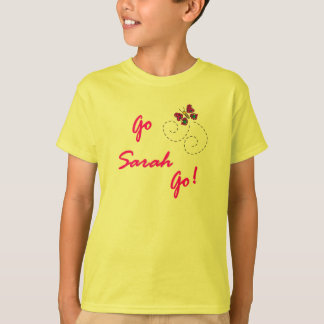 Go Sarah Go! Butterfly Kids T-Shirt