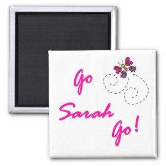 Go Sarah Go! Butterfly Magnet
