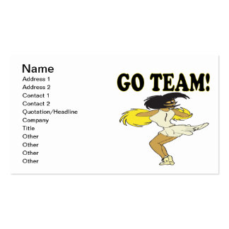 Go Team 2 Pack Of Standard Business Cards