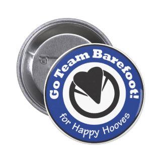 Go Team Barefoot Button