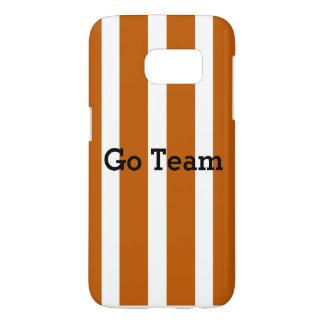 Go Team - burnt orange stripe - Customize message