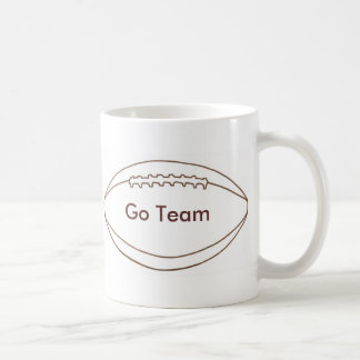 Go Team Custom Football Outline mugs