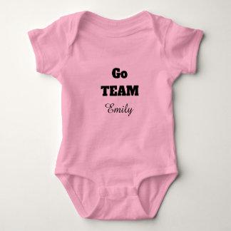 Go TEAM Custom Name Baby Bodysuit