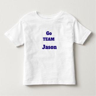 Go TEAM Custom Name Toddler T-Shirt