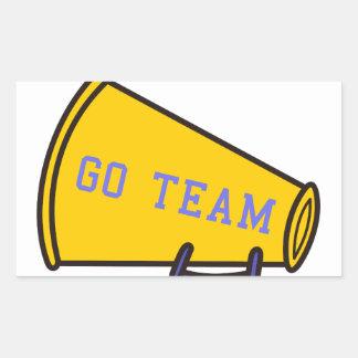 Go Team Megaphone Rectangular Sticker