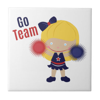 Go Team Small Square Tile