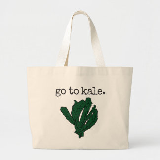 go to kale. large tote bag