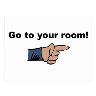 Go to Your Room Postcard