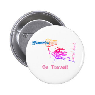 Go Travel! 6 Cm Round Badge