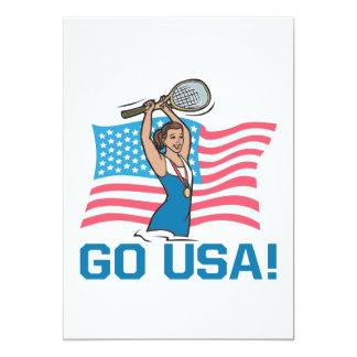 Go USA 13 Cm X 18 Cm Invitation Card