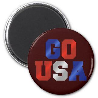 GO USA Red White and Blue Fridge Magnet