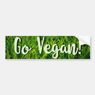 Go Vegan Bumper sticker