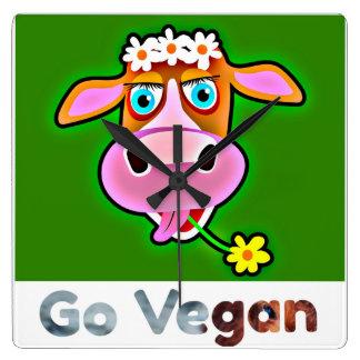Go Vegan  collection - HAPPY COW - Wall clock