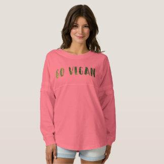 Go Vegan! Custom Women's Spirit Jersey Shirt