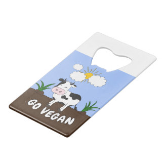 Go Vegan - Cute Cow