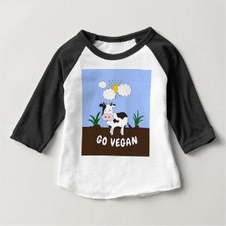 Go Vegan - Cute Cow Baby T-Shirt