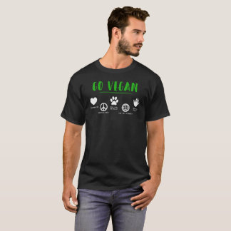 Go Vegan For The Planet Green Typography T-Shirt